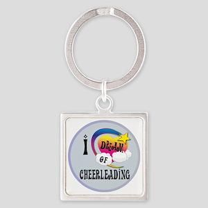 I Dream of Cheerleading Square Keychain