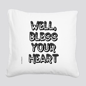 blessyourheart Square Canvas Pillow