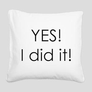 ididit Square Canvas Pillow