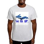 Ski Da UP Ash Grey T-Shirt