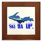 Ski Da UP Framed Tile