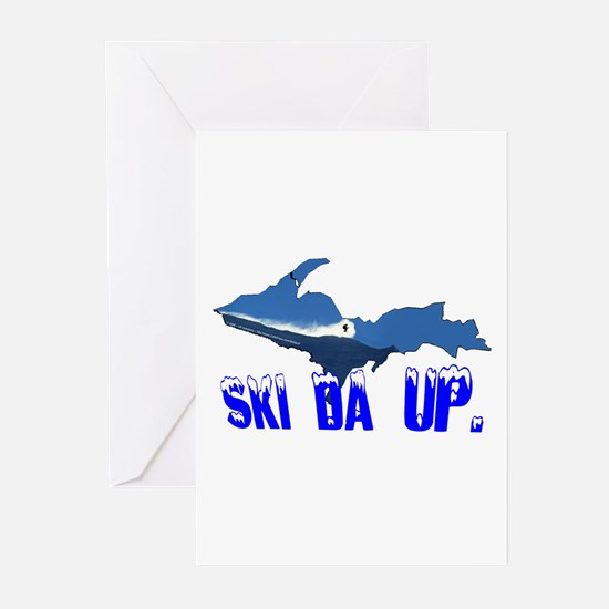 Ski Da UP Greeting Cards (Pk of 10)