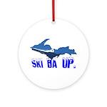 Ski Da UP Ornament (Round)