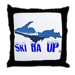 Ski Da UP Throw Pillow