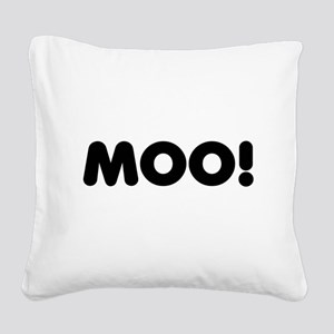 cowback Square Canvas Pillow