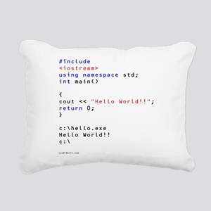 Hello World!! Rectangular Canvas Pillow