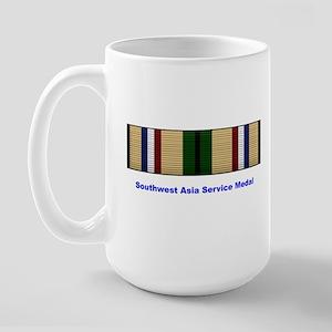 Southwest Asia Service Medal Large Mug
