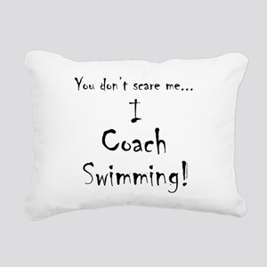 I Coach Swimming Rectangular Canvas Pillow