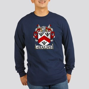 Walsh Coat of Arms Long Sleeve Dark T-Shirt