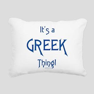 It's a Greek Thing! Rectangular Canvas Pillow