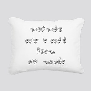 People say...black/white Rectangular Canvas Pillow