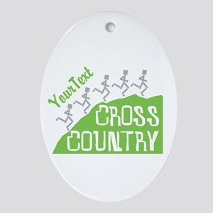 Customize Cross Country Runners Oval Ornament