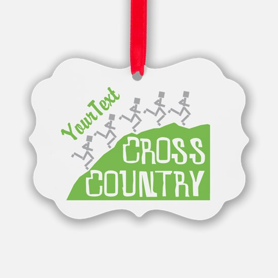 Customize Cross Country Runners Ornament