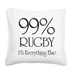 99% Rugby Square Canvas Pillow
