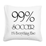 99% Soccer Square Canvas Pillow