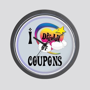 I Dream of Coupons Wall Clock