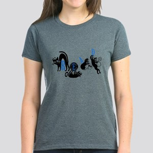 Cats Read Women's Dark T-Shirt