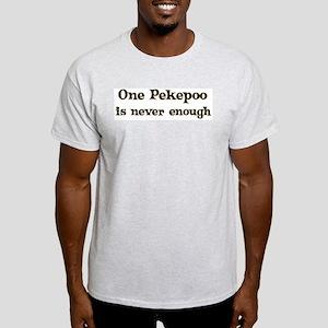 One Pekepoo Ash Grey T-Shirt