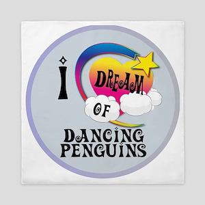 I Dream of Dancing Penguins Queen Duvet