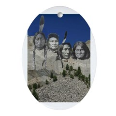 Native Mt. Rushmore Oval Ornament