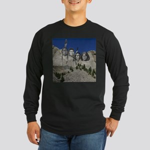 Native Mt. Rushmore Long Sleeve Dark T-Shirt