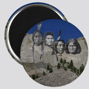 Native Mt. Rushmore Magnet