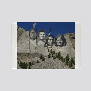 Native Mt. Rushmore Rectangle Magnet