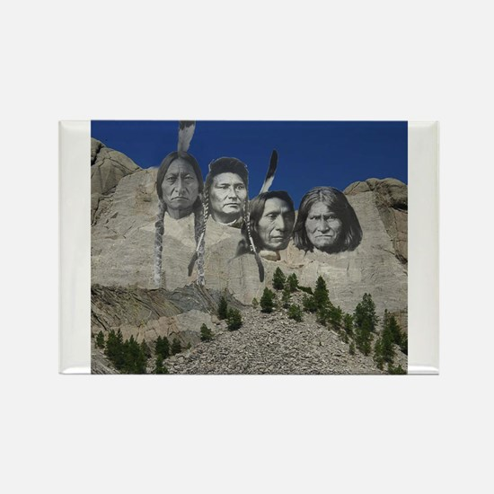 Native Mt. Rushmore Rectangle Magnet