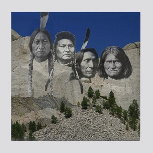 Native Mt. Rushmore Tile Coaster