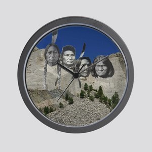 Native Mt. Rushmore Wall Clock