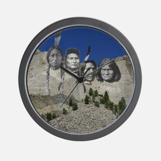 Native Mt. Rushmore Wall Clock