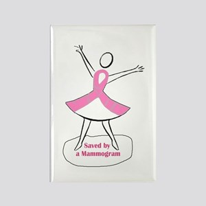 Saved by a Mammogram Rectangle Magnet