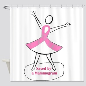 Saved by a Mammogram Shower Curtain