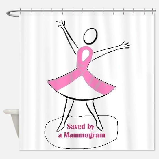 Saved by a Mammogram Shower Curtain