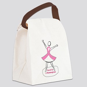 Saved by a Mammogram Canvas Lunch Bag