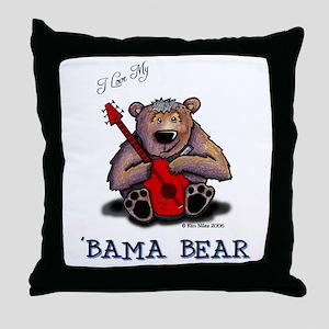Luv My 'BAMA BEAR Throw Pillow