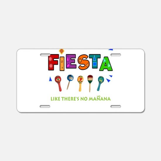 Spanish Party Aluminum License Plate