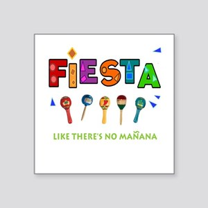 "Spanish Party Square Sticker 3"" X 3"""