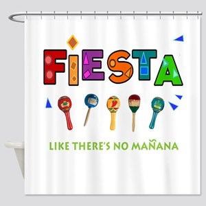 Spanish Party Shower Curtain
