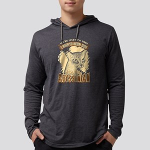 Abyssinian Cat Shirt - Lucky Aby Mens Hooded Shirt