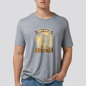 Abyssinian Cat Shirt - Luck Mens Tri-blend T-Shirt