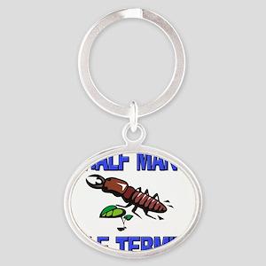 TERMITE7839 Oval Keychain