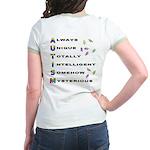 AUTISM (BackDesign) Jr. Ringer T-Shirt