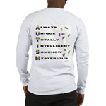 AUTISM (BackDesign) Long Sleeve T-Shirt