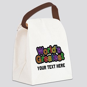 Worlds Greatest Customizable Canvas Lunch Bag