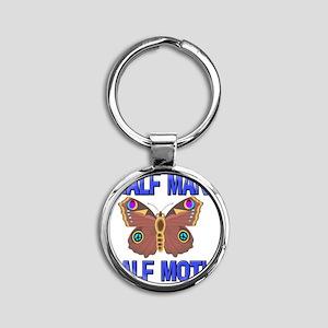 MOTH85162 Round Keychain
