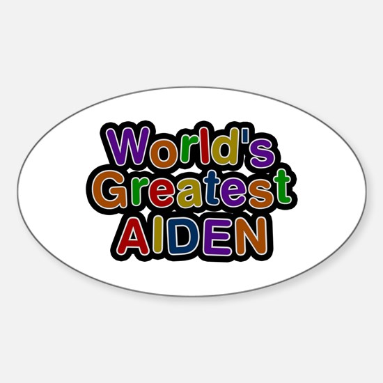 World's Greatest Aiden Oval Decal