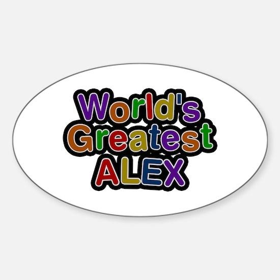 World's Greatest Alex Oval Decal