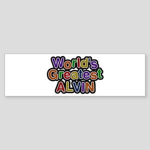 World's Greatest Alvin Bumper Sticker