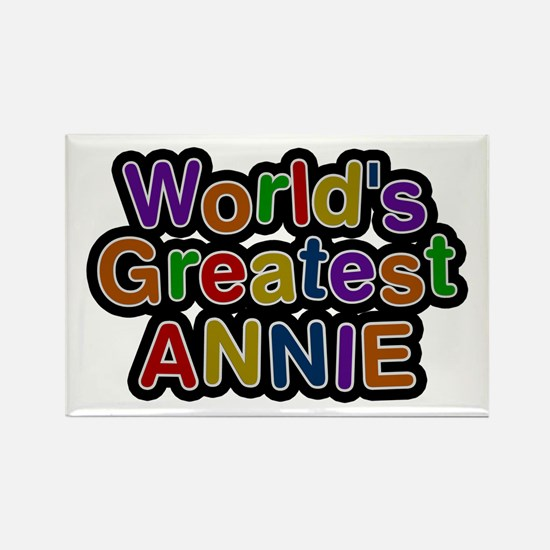 World's Greatest Annie Rectangle Magnet